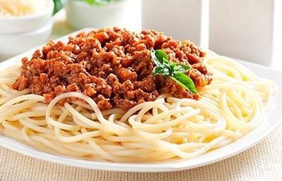 Barnens köttfärssås med spaghetti